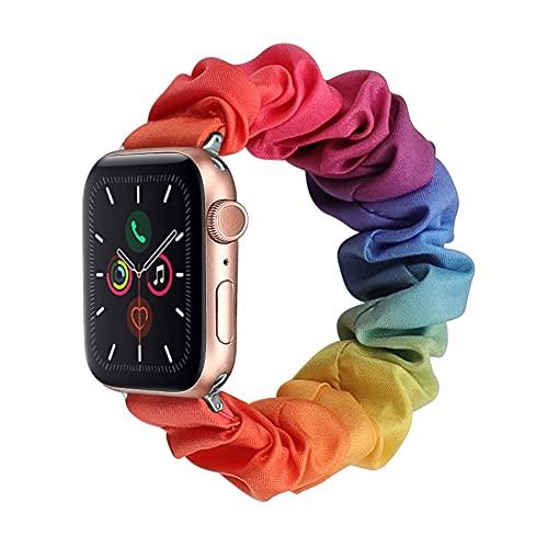 CHENPENG Pulsera de muñeca elástica Compatible con Apple Watch 1/2/3/4/5/6 SE Lindas Pulseras de Tela Correas de Repuesto para Mujeres y niñas,1,42mm