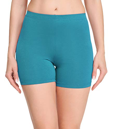 Merry Style Damen Shorts Radlerhose Unterhose Hotpants Kurze Hose Boxershorts aus Baumwolle MS10-392 (Dunkeltürkis, M)