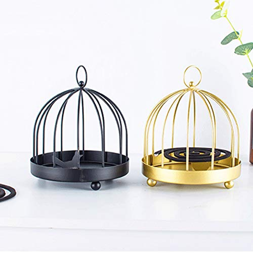Mosquito Coil Holder - Nordic Style Metal Iron Portable Mosquito Box, Hanging Fireproof Repellent Incense Burner for Outdoor use, Home Decoration, Pool Side, Patio, Deck, Camping, Hiking