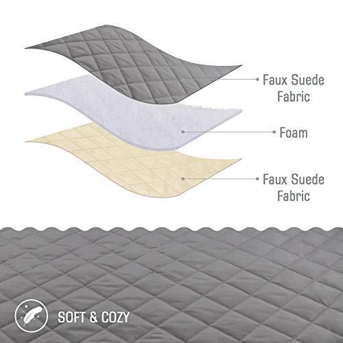TAOCOCO Copridivano Poltrona Impermeabile Divano Protector Slipcovers (Grigio, 3 posti 165 * 190cm)