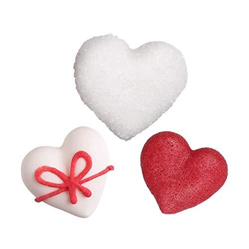 Bombasei, 30 Zucker Herzen Set weiß rot, 1 stück