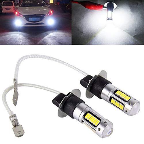 XIAOYAFANG Hxfang 2pcs H1 H3 6500K Blanco 6W 600LM LED de Alta Potencia luz de Niebla Lámparas Bulbo de la Linterna de la Lente DC 12V-24V fácil de Instalar Ahora Caliente (Socket Type : 2 Pcs H1)