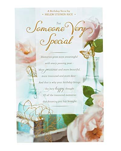 """Geburtstagskarte mit englischer Aufschrift """"Someone Special Birthday"""" – Geburtstagskarte für Sie, mit Vers von Poet Helen Steiner Rice"""