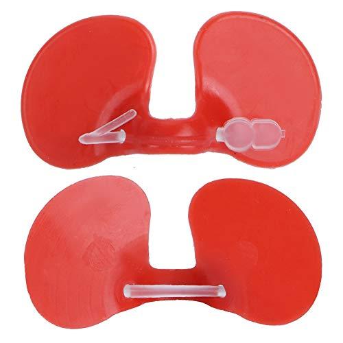 Hühnchen-Brillen, dauerhafte Geflügel-Blind-Brille Hühnerbekämpfung ABS Hühneraufzuchtdichte für Geflügel Notwendig (rot)