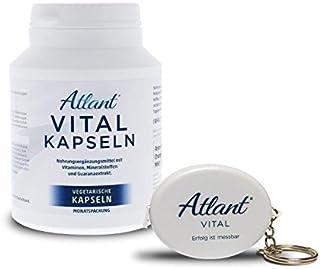 Atlant Vital multivitamin kapslar hög dosering 17 vitaminer + mineraler + koffein (Guarana) = 30 dagars leverans -Alla vär...