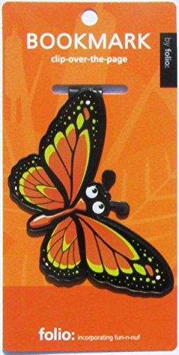 Butterfly Bookmarks (Clip-over-the-page) Set of 2 - Assorted colors