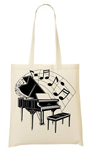 C+P Piano Graphic Artwork Tragetasche Einkaufstasche