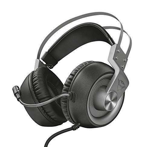 Trust Cascos Gaming GXT 430 Ironn Auriculares Gamer con Micrófono Flexible, Potentes Unidades Acústicas de 50 mm, Cable de Goma, para PS4, PS5, PC, Nintendo Switch, Xbox One, Xbox Series X - Negro