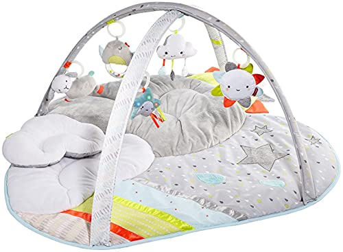 Skip Hop Silver Lining Cloud Baby Play Mat and Infant Activity Gym, Multi-Color Celestial Theme