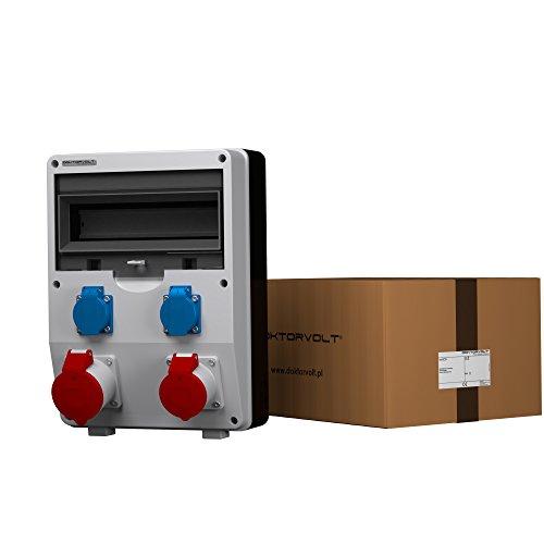 Stromverteiler ECO 1x32A 1x16A 2x230V französisch/belgische System Steckdosen Bals Baustromverteiler Wandverteiler 2596