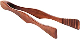 Wooden Toast Tongs Cooking Salad Bacon Steak Bread Cake Clip Kitchen Utensil Acc