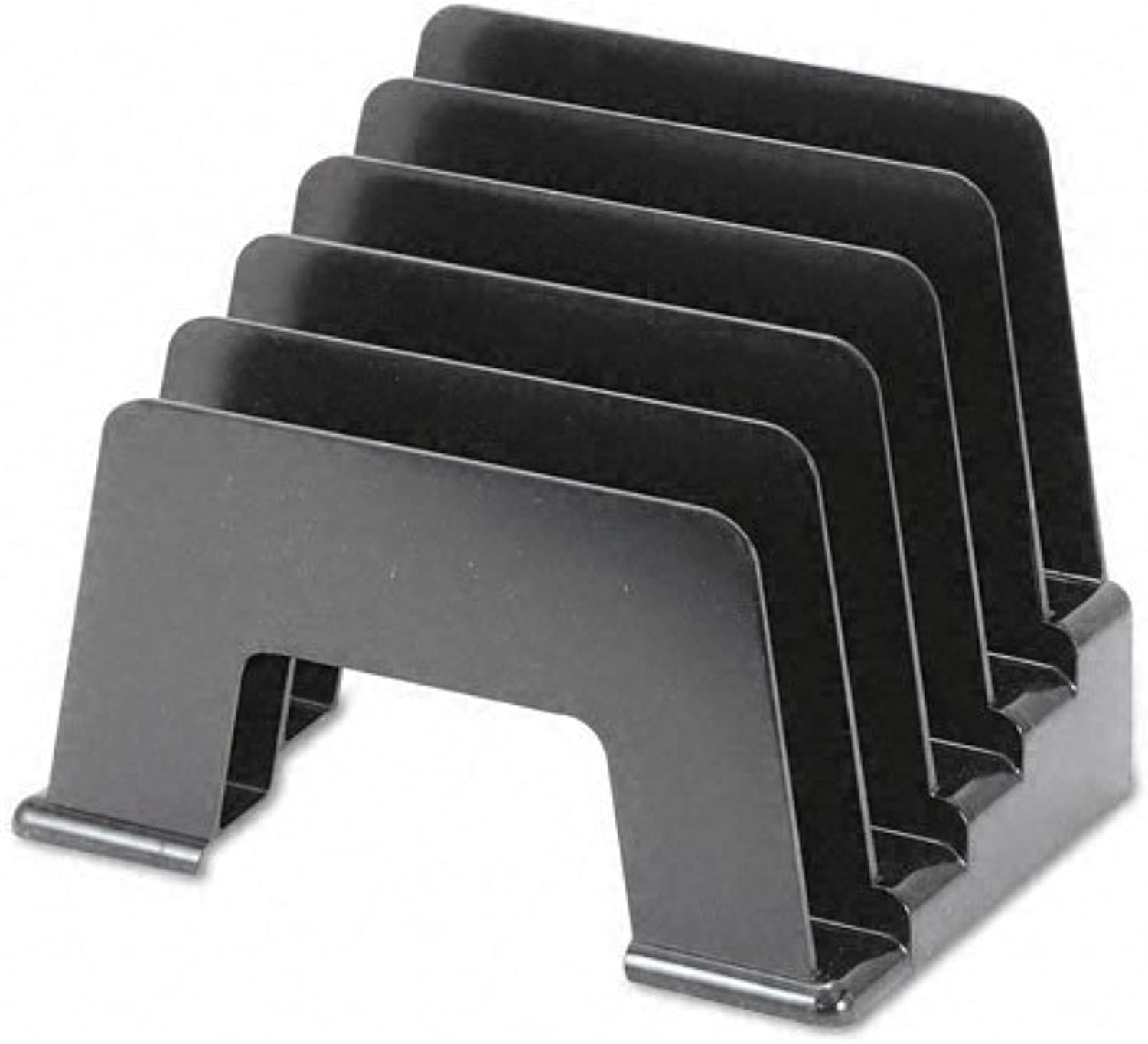 Universal - Incline Sorter, Five Sections, Plastic, 8W X 5 1 2D 6H, Black Pack Of 15