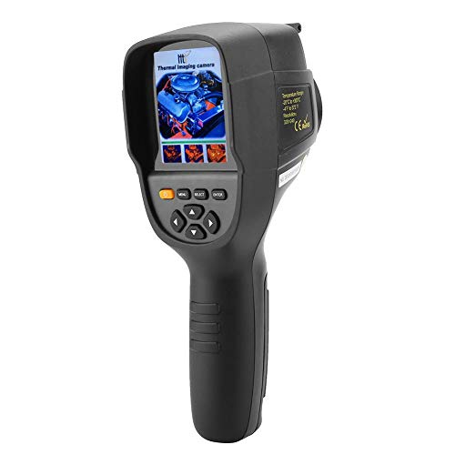 Handy Wärmebildkamera, HT-19 Infrarot Imager 320 × 240 Auflösung 300,000 Pixel 3,2-Zoll-TFT-Bildschirm -20 bis 300°C, tragbares thermisches Infrarot Thermometer (EU Plug)