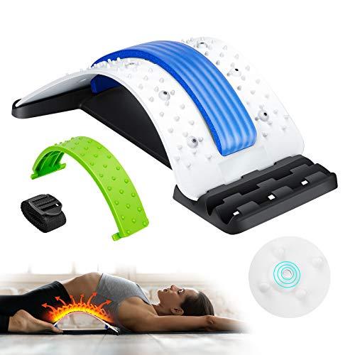 Back Stretcher, AiBast Spine Deck Back Stretcher for Pain Relief Adjustable Multi-Level Lower Back...