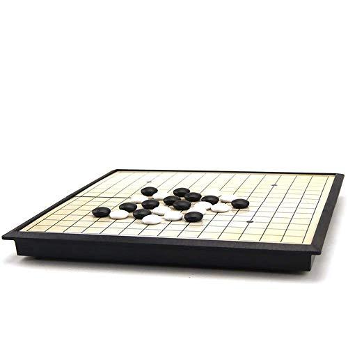 XHH Go Schach Brettspielset Go Spielset Magnetisch Go Spielset - Praktische magnetische einzelne Konvexe Steine - reisebereit (Puzzle-Unterhaltungsfamilie)