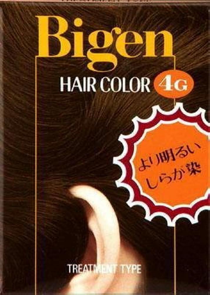 借りるたっぷりハチビゲン ヘアカラー 4G 自然な栗色 × 10個セット