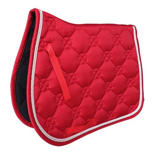 Tapis De Selle Cheval Equitation, Tapis de Selle de Dressage carré en Daim-rouge (69x52cm/27.2x20.5inch)