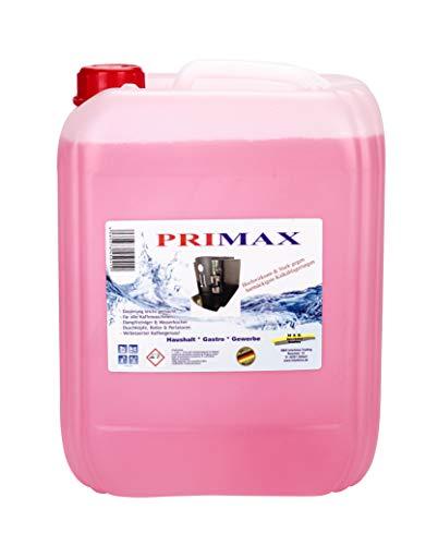 Primax Entkalker - 10 L - für Kaffee- und Espressomaschinen, Wasserkochern, Boiler, Perlatoren, Duschköpfe - Made in Germany!
