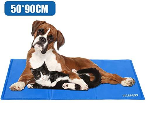 VICSPORT Alfombra de Enfriamiento para Perros,Estera de Enfriamiento para Perros y Gatos Almohadilla de Cama para Mascotas (50 * 90cm)