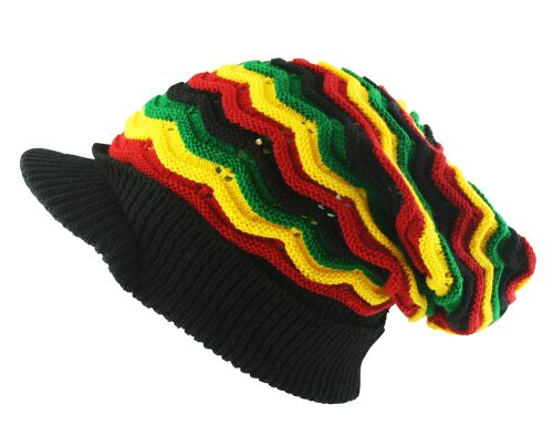 UD Accessories - Bonnet - - À rayures Homme Noir Noir