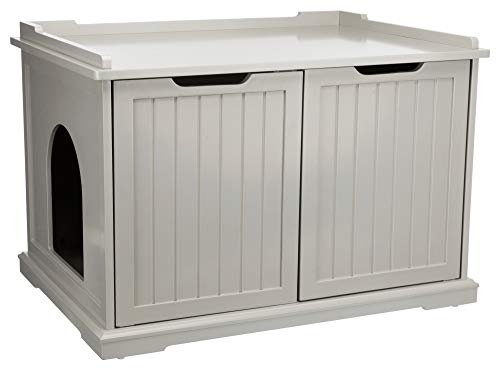 TRIXIE XL Wooden Litter Box Enclosure for Standard or Large Size Litter Box, Gray, Model Number: 40235