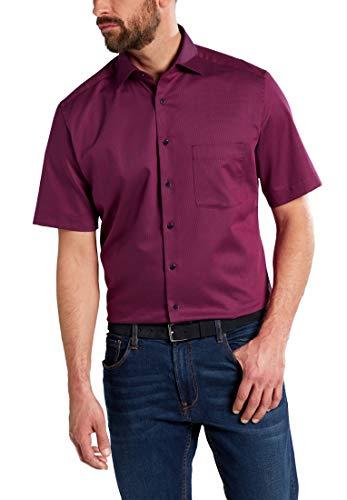 eterna Herren Hemd Modern Fit Kurzarm Bordeaux (75) 45