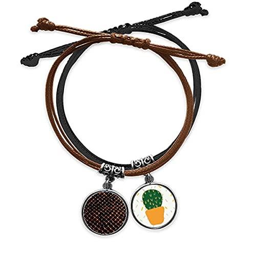 Pulsera negra oscura de piel de serpiente escamas pulsera cuerda mano cadena cuero cactus pulsera