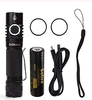 Sofirn New SC31 Pro SST40 2000lm LED Flashlight Rechargeable 18650 Flashlights USB C Powerful LED Torch Outdoor Lantern An...