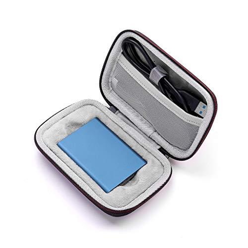 unkonw HipyYAN - Bolsa de almacenamiento para Samsung T1, T3, T5, portátil, 250 GB, 500 GB, 1 TB y 2 TB SSD y cable