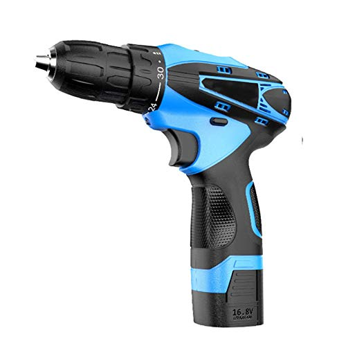 Bluetooth earphone Mini 16.8V Cordless Electric Drill with Battery Electric Fast Charge Screwdriver Drill Set, 45PCS Accessories, Built-in LED,18+1 Torque Setting,Come with Carrying Case