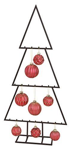 Spetebo Metall Tannenbaum für Zierschmuck - 77 cm - Deko Weihnachtsbaum Tanne schwarz Design Baum für Christbaumkugeln