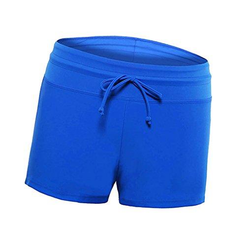 FITYLE Pantalones Cortos De Baño De Mujer Solid Boardshort Shorts De Baño De Bikini De Surf - Azul, S