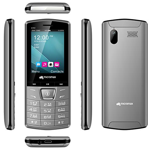 Micromax X741 (Grey, Ultra Bright LED Light, 1750mAh)