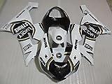 Accessories Free Customize Fairing kit for Kawasaki Ninja ZX 6R 2005 2006 zx6r 05 06 Black White Lucky Strike Motorcycle fairings Set HT18