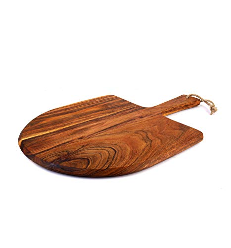 "Acacia Wood Pizza Peel with Handle (10""x10""x6"")"