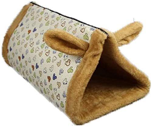 YAOSHUYANG Cama para mascotas, nido para perro, cama de doble propósito, triángulo canal, nido para mascotas, nido para gatos y gatos, color amarillo, 55 x 30 x 27 cm