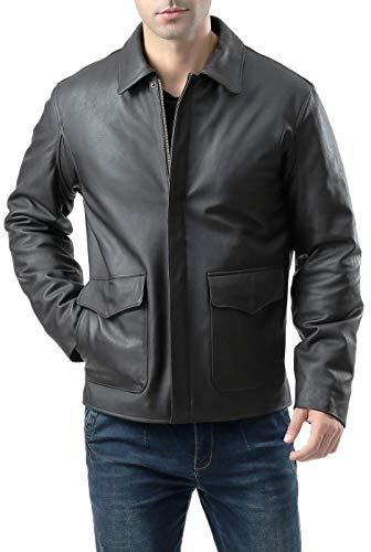 Landing Leathers Men's Raider Indy-Style Leather Legend Jacket Black X-Large Tall