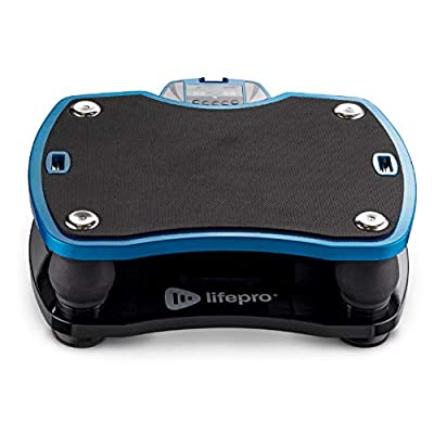 LifePro Vivid Vibration Platform Machine - High Frequency 15-40 Hz Linear Viberation Plate Exercise Machine - Whole Body Home Workout Equipment for Awesome Fitness and Deep Tissue Therapy