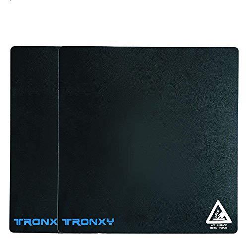 2PCS Tronxy X5SA Replacement 3D Printer Build Surface Plate Sticker 330×330mm 3D Printer Heatbed Platform PVC Sticker Sheet for X5SA-2E/X5SA PRO/X5SA V2