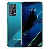 CUBOT X30 Smartphone sans contrat, 4G, 8 Go de RAM + 256 Go de ROM, écran HD 6,4', batterie 4200 mAh, cinq caméras, double SIM, téléphone portable Android 10.0, NFC, Face ID, Gradient+vert