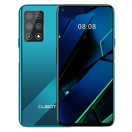 CUBOT X30 Smartphone ohne Vertrag, 8GB RAM/256GB, 6.4 Zoll HD Display, 4200mAh Akku, Android 10, 5-Kameras 48MP, Dual SIM, 4G Global Version, Gradient+Grün