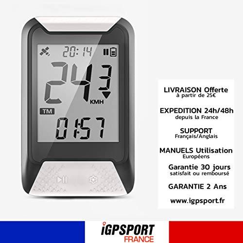 IGPSPORT iGS130 - Compteur de Vélo GPS Simplifié Vitesse odomètre IPX7 rétroéclairé Cardio...