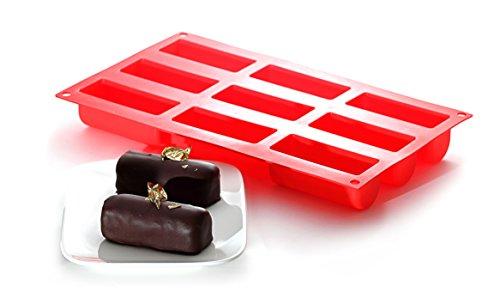 YOKO DESIGN 1256 Moule pour Mini BUCHES, 100% Silicone/Platinum, Rouge