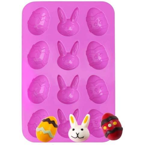 QSXX Stampo in silicone pasquale antiaderente per uova di...