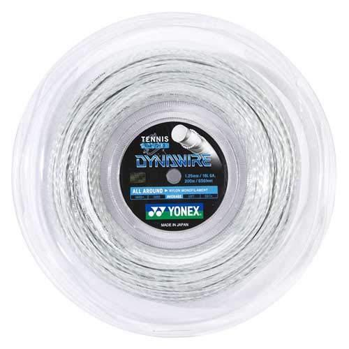 ヨネックス DYNAWIRE ダイナワイヤー (1.25mm/1.30mm) TDW125/TDW130 200Mロール 硬式テニス ガット ナイロン モノフィラメント ガット ゲージ:1.25mm ブラック(007) [並行輸入品]