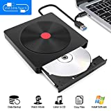 Moocoo External CD DVD Drive, Type-C & USB 3.0 Ultra-Slim Portable USB CD-RW/DVD-RW Writer Reader Player...