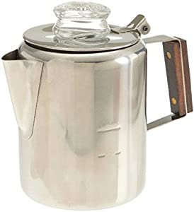 18/8 Stainless Steel Percolator, 12 Cup, 412, Rapid brew, stovetop
