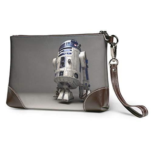 Star Robot R2 D2 Wars - Bolso de mano de piel con correa de piel suave para mujer, hombre, con ranuras de piel de vacuno