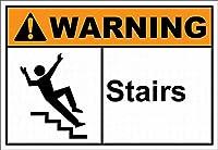 注意標識-通知のための警告階段街路交通の危険屋外防水および防錆金属錫標識