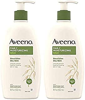 Daily Moisturizing Body Lotion with Soothing Oat and Rich Emollients to Nourish Dry Skin, Fragrance-Free, 18 fl. oz (2 pack)
